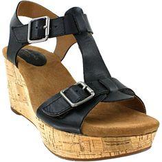 Clarks Caslynn Paula Black Leather Women's Sandal