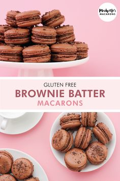 Michelle from Michelle's Macarons is sharing one of her favorite chocolate macaron recipes: Brownie Batter macarons. It's the perfect macaron filling recipe for chocolate lovers. Macaroon Filling, Macaroon Cookies, French Macaron Filling, Chocolate Macaron Recipe, Chocolate Macaroons, Egg Recipes For Breakfast, Healthy Dessert Recipes, Healthy Food, French Macaroon Recipes
