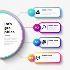 simple vector business infographic steps Infographic Template Powerpoint, Powerpoint Design Templates, Timeline Infographic, Circle Infographic, Booklet Design, Flyer Template, Folders, Presentation Design, Presentation Folder