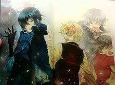 Pandora Hearts main characters bid us farewell as the protaganist of Mochijun's new series, Vanitas no Carte, takes the stage. Vampires, Manga Box Sets, Pandora Hearts, Manga Pages, Coming Of Age, Light Novel, Heart Art, Game Art, Manga Anime