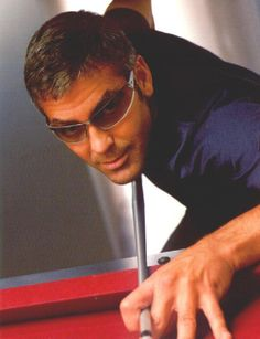 George Clooney playing Billiards