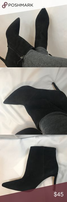 Sam Edelman pointy suede boots new New with no box, suede boots have been on display so may have some imperfections, 3 inch heel, pointy toe Shoes Ankle Boots & Booties