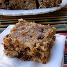 Skinny Banana, Chocolate Chip Bars. These are absolutely fantastic. :)