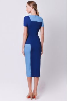 Stylish Work Outfits, Classy Outfits, Chic Outfits, Pretty Outfits, Pencil Dress Outfit, Ankara Long Gown Styles, Color Blocking Outfits, Edgy Dress, Rajputi Dress