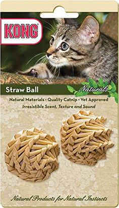 KONG Naturals Straw Ball Catnip Toy, Colors Vary, 2-Pack ** Review more details here : Dog Toys
