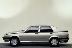 Alfa Romeo 75. È nata nel 1985 per festeggiare i 75 anni della Casa  È stata l'ultima vettura costruita prima dell'era Fiat.