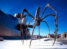 Araña de Louise Bourgeois- Exterior Museo Guggenheim de Bilbao-