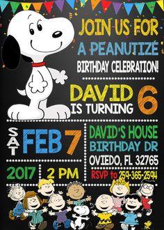 Invitación cacahuetes invitación de Snoopy por DigitalPartyInc