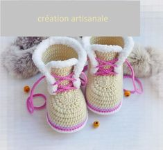 Crochet Slippers For Kids Children Baby Sandals 43 Super Ideas Crochet Baby Boots, Knit Baby Booties, Baby Girl Crochet, Crochet Slippers, Crochet For Kids, Baby Girl Boots, Baby Boy Shoes, Knit Shoes, Baby Knitting