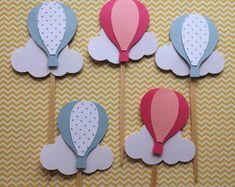 Hot Air Ballon First Birthday Highchair Banner- Highchair – Baby Shower Party Shower Party, Baby Shower Parties, Baby Shower Games, Baby Boy Shower, Birthday Highchair, Air Ballon, Topper, High Chair Banner, Birthday Balloons