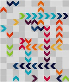 Rainbow Dancefloor! Chasing Chevrons Quilt Pattern