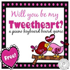 Free! Valentine's Day Music Game: Piano Keyboard