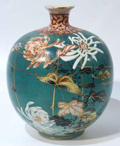 Antique Japanese Satsuma Pottery vase C1890.