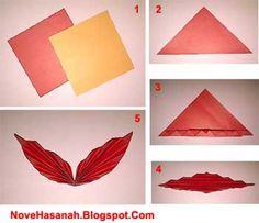 cara membuat hiasan dinding kupu-kupu kertas