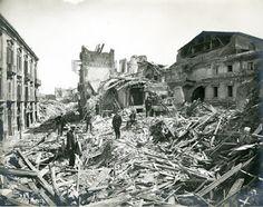 La situazione post terremoto a Messina, il 29 dicembre 1908