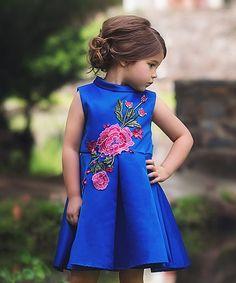 Look at this Royal Bardot Dress - Infant, Toddler & Girl on #zulily today!