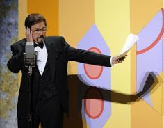 Gary Owens is seen performing in a skit at the 60th Primetime Emmy Awards in Los Angeles. He died Thursday at the age of 80, his family said.
