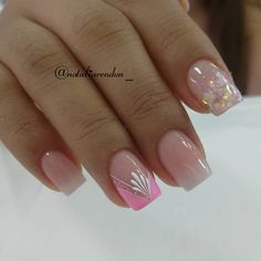 Rose Nail Art, Rose Nails, Pink Nails, My Nails, Ambre Nails, Cute Nail Colors, Semi Permanente, Basic Nails, Luxury Nails