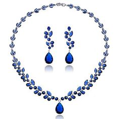 2016 high end indian earrings Mobilier De Jardin Wicker Furniture 2016 High-end Temperament Zircon Pendant Earrings Spring And Had The Luxury Jewelry Set Classic Blue