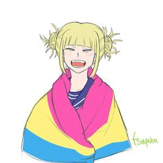 YAY TOGA My Hero Academia, Hero Academia Characters, Pansexual Pride, Himiko Toga, Lgbt Love, Lesbian Pride, Lgbt Community, Cute Gay, Anime