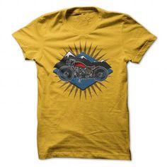Vintage Motorcycle Mountain Scene Sun Rays Tshirt T-Shirts, Hoodies (19.99$ ==► Order Here!)