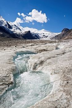 Pasterze Glacier and Grossglockner Mountain in Carinthia, Austria