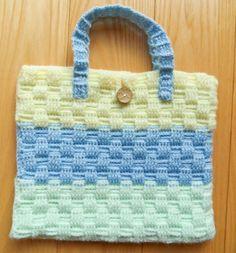 Pastel Green, Blue & Yellow Handbag Yellow Handbag, Blue Yellow, Green, Straw Bag, Burlap, Reusable Tote Bags, Pastel, Handbags, Fashion