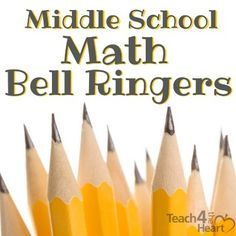 FREE set of middle school math bell ringers / practice exercises to review basic math and simple algebra skills