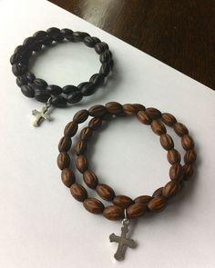 Handmade Men's Wooden Beaded Bracelet, trending for Spring!
