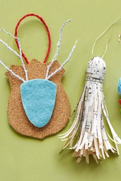 Deer Head and Music Sheet Tassel