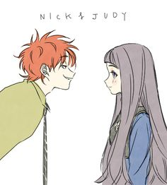 Zootopia: human Nick and Judy