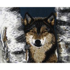 Latch Hook Rug Kit 716448376798 Wolf and by glitzygirlztwinkle, $89.95
