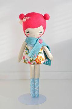Love lulu handmade plush doll softie by nooshka on Etsy