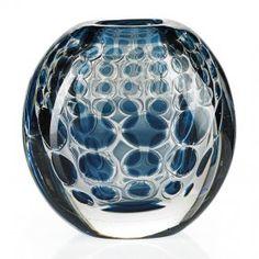 "INGEBORG LUNDIN (1921 - 1992) ORREFORS Ariel vase, Sweden, 1963; Cased glass; Signed ORREFORS/Ariel Nr. 278M/Ingeborg Lundin; 5 1/2"" x 5 1/2"" x 4"""