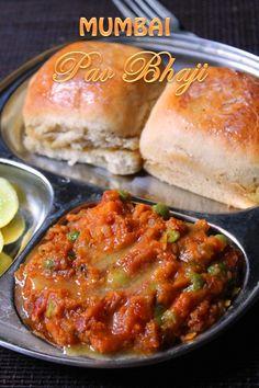 Mumbai Pav Bhaji Recipe / How to Make Bhaji for Pav Bhaji - Yummy Tummy Veg Recipes, Spicy Recipes, Indian Food Recipes, Vegetarian Recipes, Cooking Recipes, Bhaji Recipes, Curry Recipes, Easy Recipes, Chicken Recipes