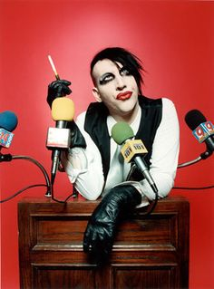 A man who TRUELY stands up for what he believes! Even if he wears more make-up than me!