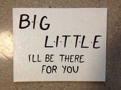 """""""Big Little I'll Be There For You"""" canvas in Friends theme font"""