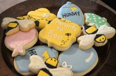 Baby shower cookie decorations
