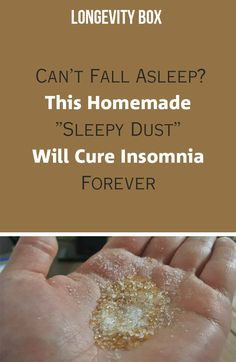 "Can't Fall Asleep? This Homemade ""Sleepy Dust"" Will Cure Insomnia Forever"