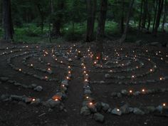 candle-lit labyrinth - could also do a mandala or circle