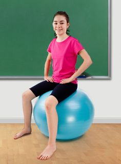 How Sitting on a Balance Ball Helps Kids Do Better In School   Gaiam Life