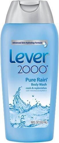 Lever 2000 Body Wash, Pure Rain, 18-Ounce Bottles (Pack of 6)***Body wash with advanced deodorant formula,Feel fresh all day,Cleanses and moisturizes skin,Advanced skin hydrating formula,.