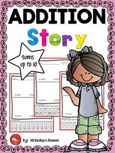 Addition Story Problems (using models) for K-1The models will help your students…