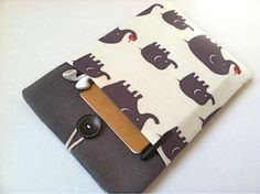 Elephant iPad Mini Case Cover Padded 7 inch Tablet Sleeve with Pocket. $28.99, via Etsy.