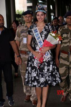 Mumbai: Stephanie Del Valle Miss World 2016 arrive International Airport