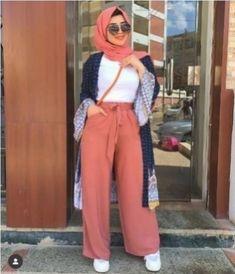 Hijab Fashion Summer, Modest Fashion Hijab, Modern Hijab Fashion, Hijab Fashion Inspiration, Casual Hijab Outfit, Muslim Fashion, Mode Inspiration, Hijab Chic, Fashion Outfits