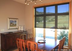 Solar Screen Shades In A Dining Room