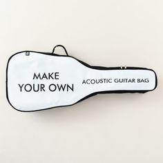 Custom Personalized Acoustic Guitar Bag Diy Leather Guitar Strap, Customized Gifts, Personalized Gifts, Guitar Bag, Diy Notebook, Diy School Supplies, Backpack Straps, One Bag, Handmade Bags