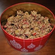 Fruitcake Cookies- This recipe was given to me by my mother. It makes a BIG batch. They taste better and better if left a couple weeks before eating. Christmas Desserts, Christmas Baking, Christmas Cookies, Holiday Baking, Holiday Treats, Christmas Recipes, Holiday Recipes, Christmas Ideas, Christmas Foods