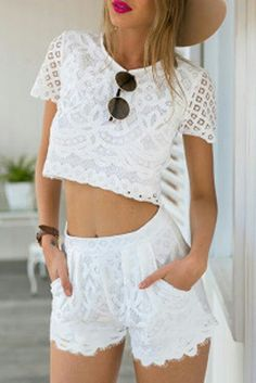 White lace summer style